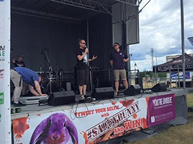 Petley Hare Staff on Stage During Whitby Ribfest 2016