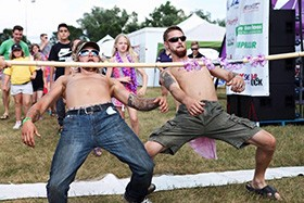 Petley Hare Staff Participating in Limbo Contest at the Whitby Ribfest 2016